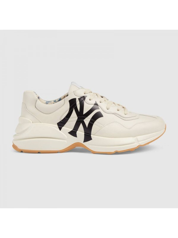 Cheap Gucci Rhyton sneaker with NY Yankees™ print Online