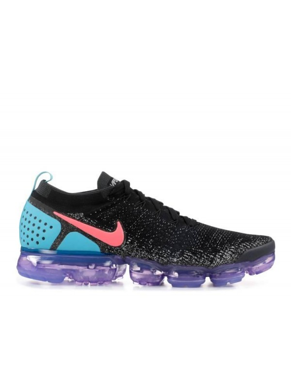 Cheap Air Vapormax Flyknit 2 Black Blue Purple With Red Logo Online