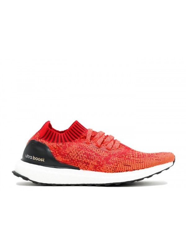 Cheap Ultra Boost Uncaged M Scarlet Solar Red Black