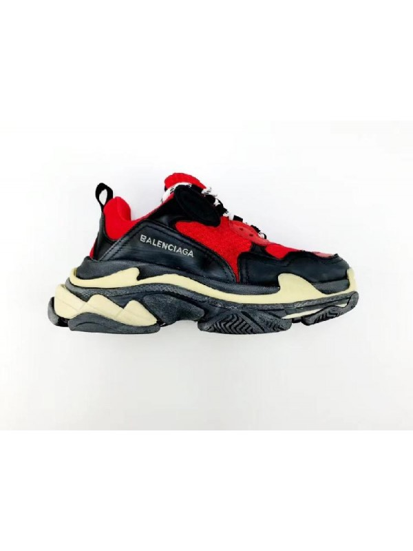 Cheap Triple S Red Black Sneakers Online