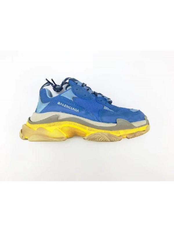 Cheap Triple S Blue Yellow Sneakers Online