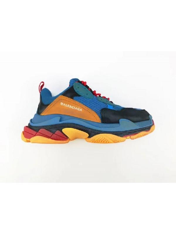 Cheap Triple S Blue Yellow Black Sneakers Online