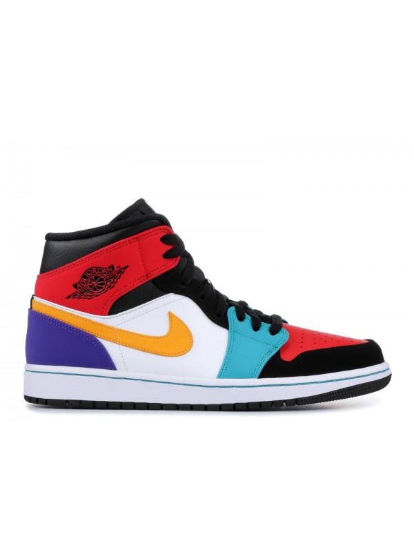 """Cheap Air Jordan Shoes 1 MID """"MULTI-COLOR"""""""