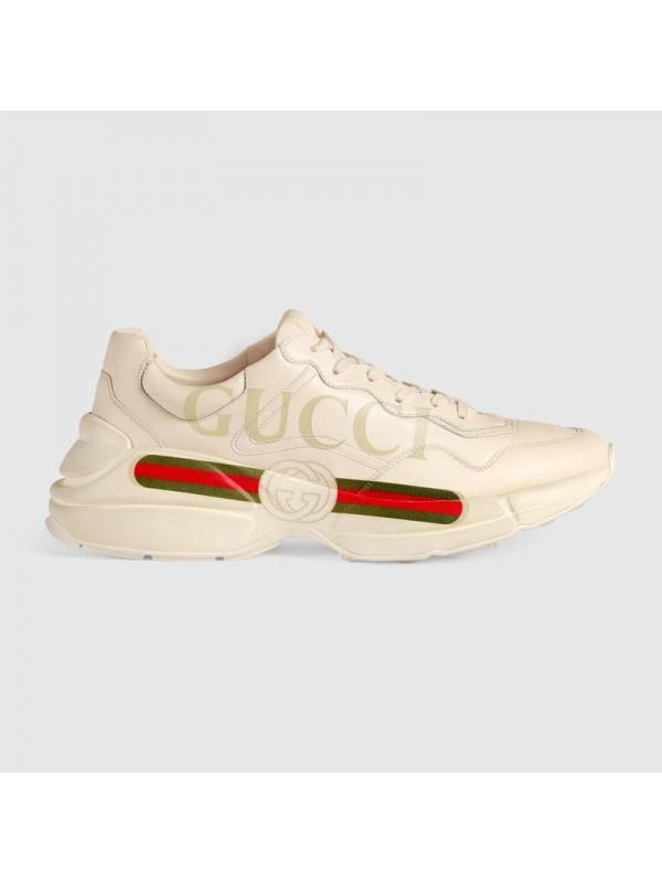 Cheap Rhyton Gucci logo leather sneaker Online