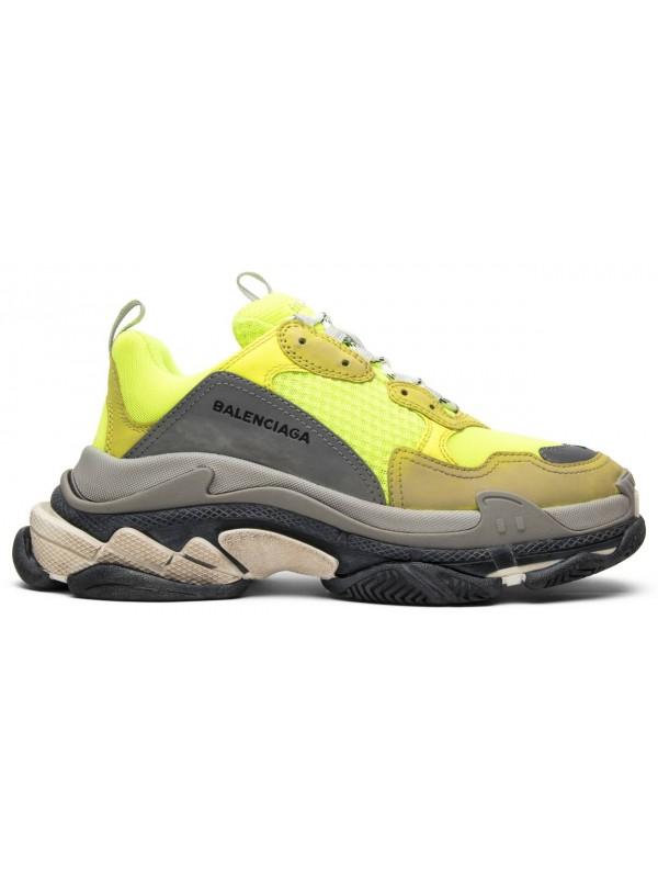 Cheap Triple S Yellow Grey Brown Sneakers Online