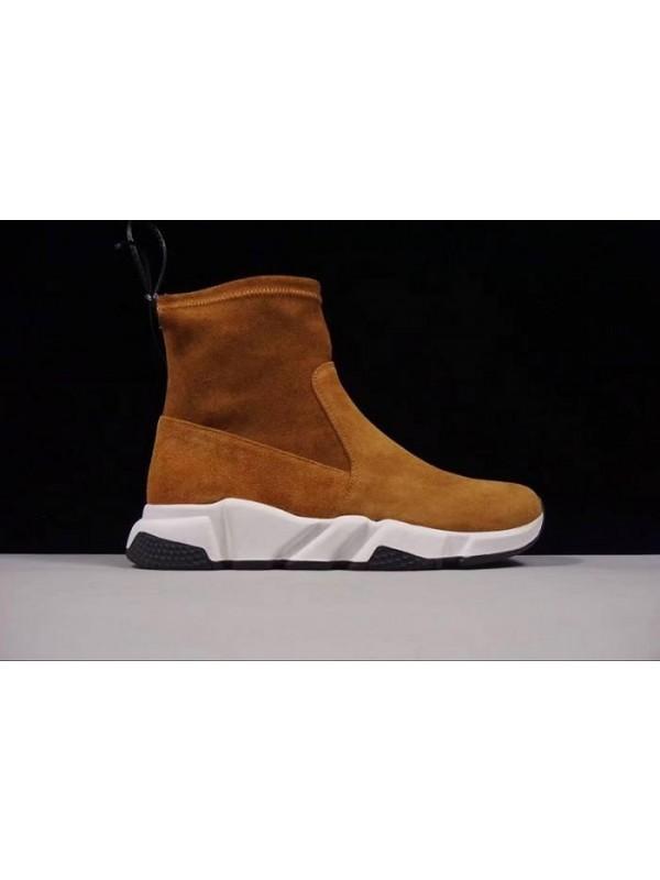 Cheap Fall/Winter Sheepskin Chestnut Sneakers Online