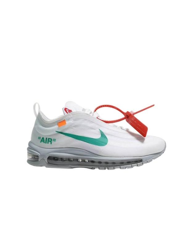 Cheap Off White X Nike Air Max 97 Blue White Sneakers