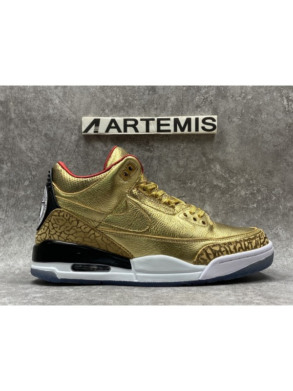 Cheap Air Jordan Shoes 3 Retro Gold