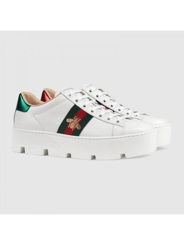 Cheap GUCCI Women's Ace embroidered platform sneaker