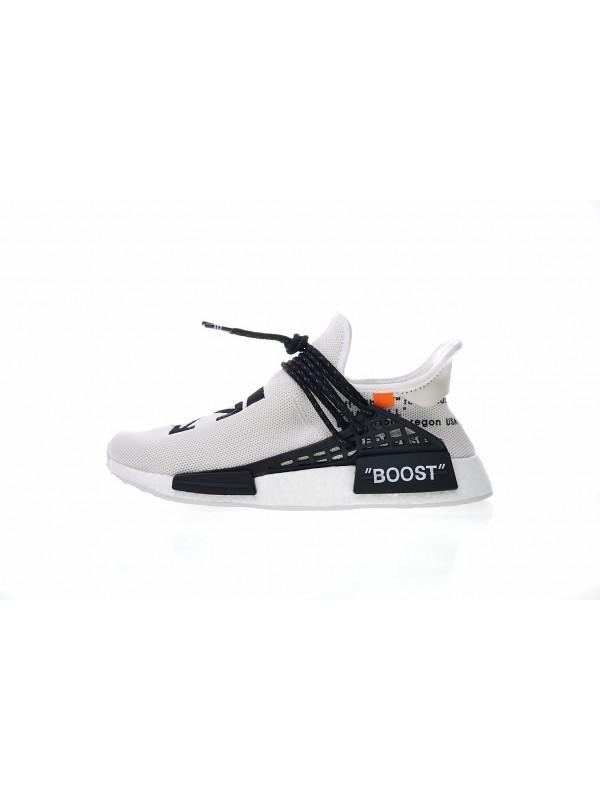 Cheap OFF-WHITE x Pharrell x adidas NMD Hu Race Trail