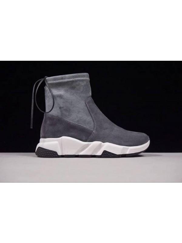Cheap Fall/Winter Sheepskin Smoke Gray Sneakers