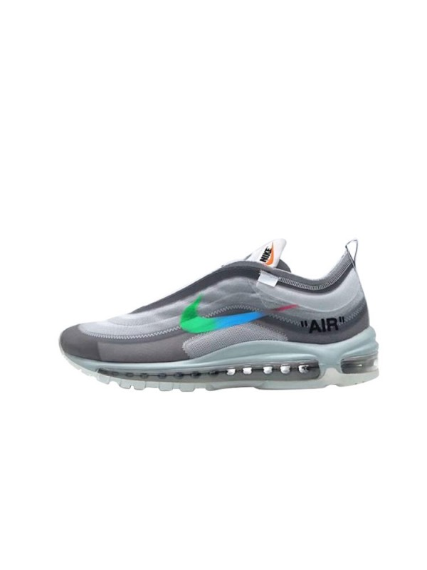 Cheap Off-White X Air Max 97 Grey Blue Sneakers Online