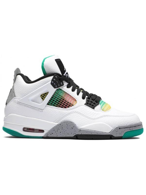 Cheap Air Jordan Shoes 4 Retro Lucid Green Rasta