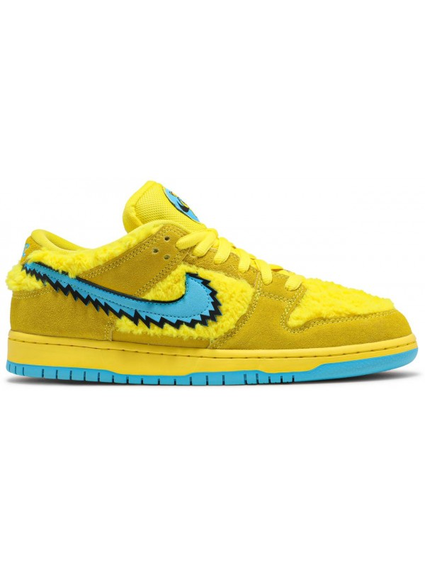 Cheap Nike SB Dunk Low Grateful Dead Bears Opti Yellow