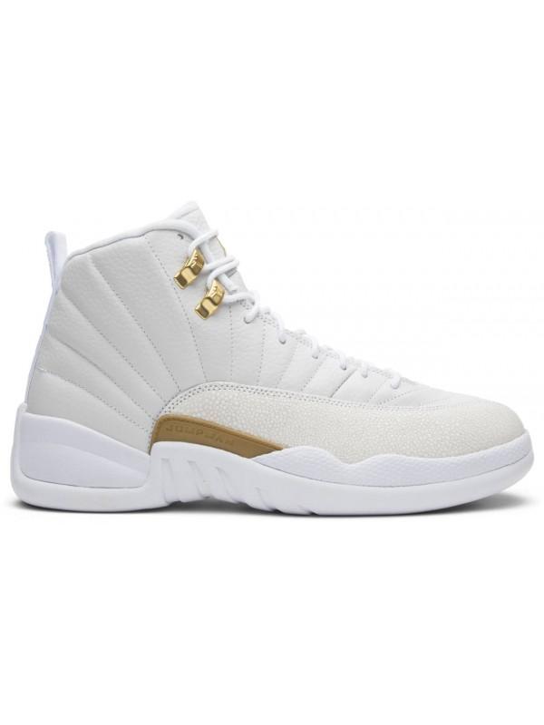Cheap Air Jordan Shoes 12 Retro OVO White Metallic Gold White