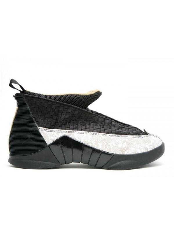 Cheap Air Jordan Shoes 15 Retrp LS Laser Black Metallic Gold White