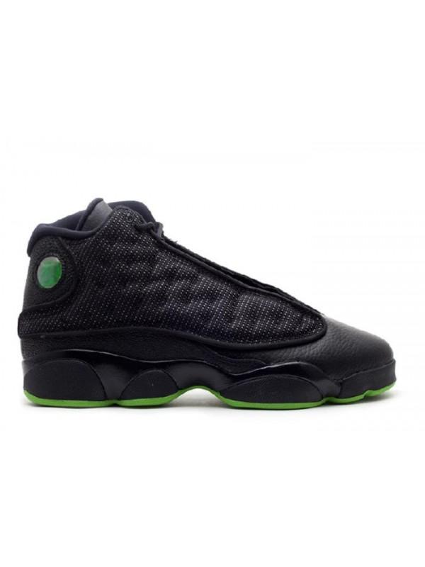 Cheap Air Jordan Shoes 13 Retro(GS) Altitude 2010 Black Green