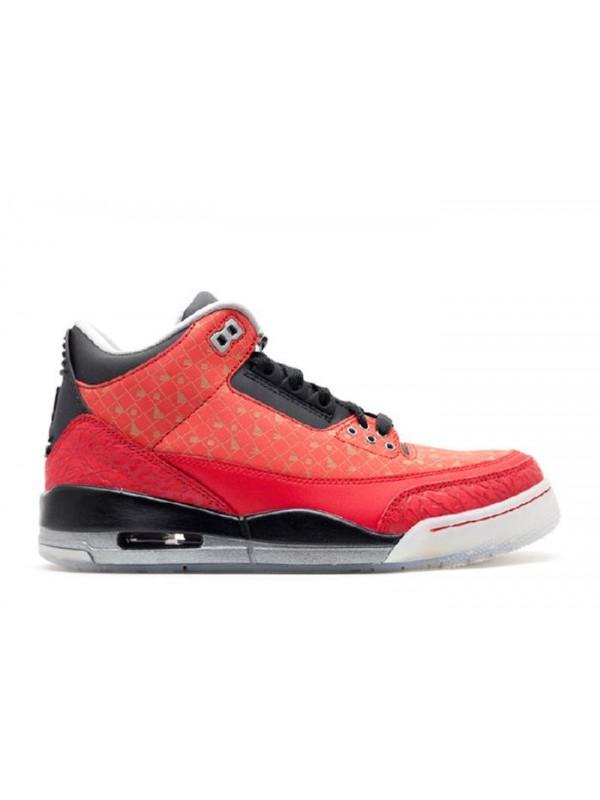 Cheap Air Jordan Shoes 3 Retro Doernbecher Varsity Red Metallic Silver Black
