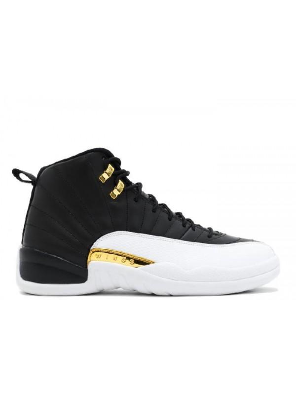 Cheap Air Jordan Shoes 12 Retro Wings Black Metallic Gold White