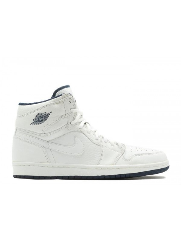 Cheap Air Jordan Shoes 1 (2001 Addition) White, White-Midnight Navy for Sale