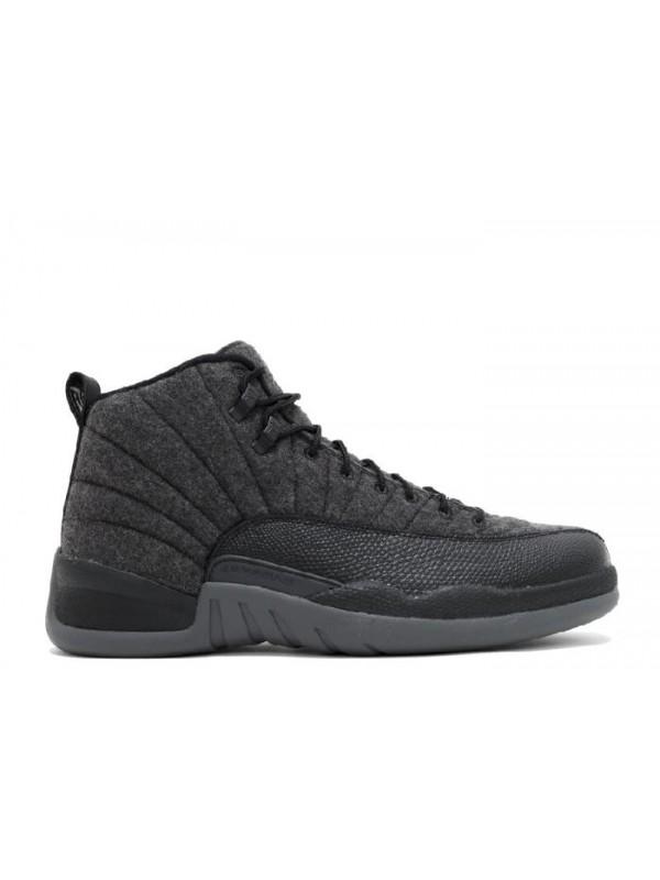 Cheap Air Jordan Shoes 12 Retro Wool Dark Grey Metallic Silver