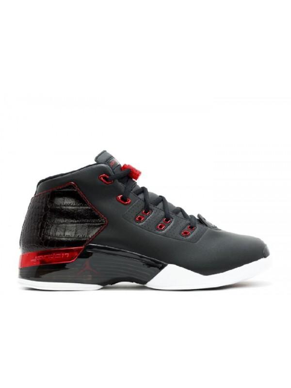 Cheap Air Jordan Shoes 17+ Retro Bulls Black Gym Red White