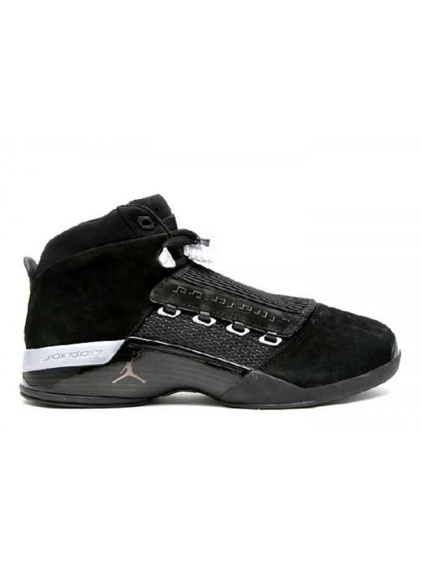 Cheap Air Jordan Shoes 17 Retro Countdown Pack Black Metallic Silver