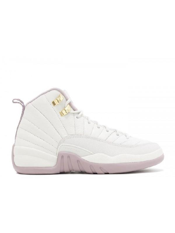 Cheap Air Jordan Shoes 12 Retro Prem HC GG(GS) Heiress Light Metallic Pinke