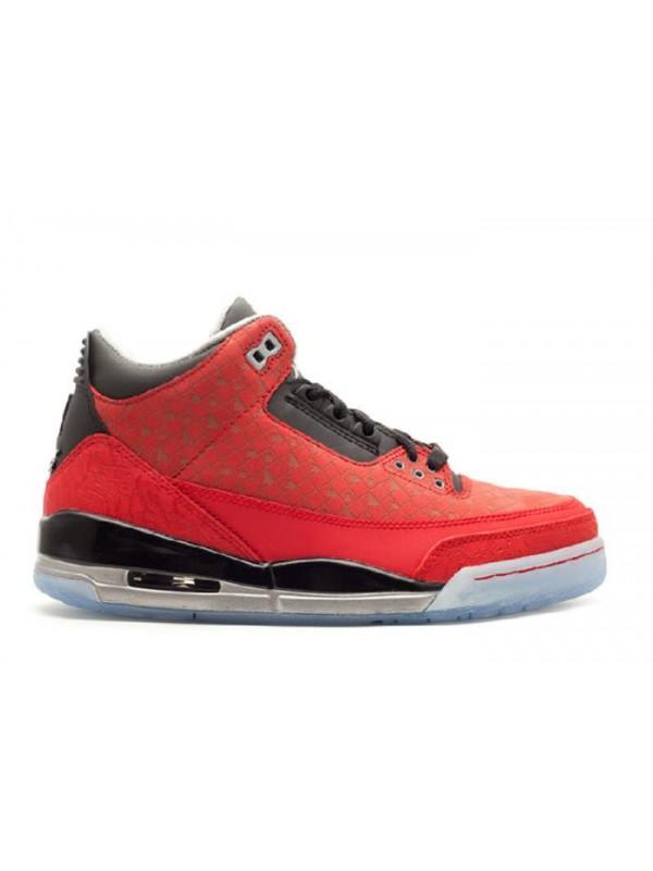 Cheap Air Jordan Shoes 3 Retro Doernbecher Varsity Red Black Metillc Silver
