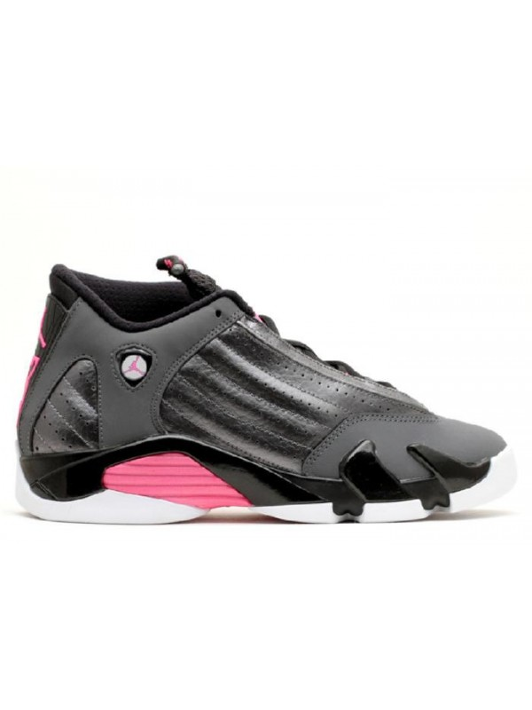 Cheap Air Jordan Shoes 14 Retro GG(GS) Metallic Dark Grey Hyper Pink Black