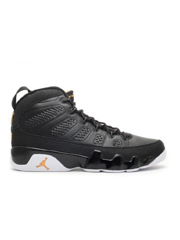 Cheap Air Jordan Shoes 9 Retro Black Citrus White
