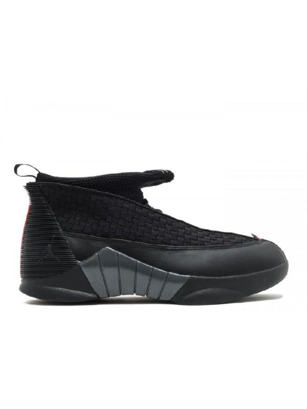 Cheap Air Jordan Shoes 15 Retro 2017 Release Black Varsity Red Anthracite