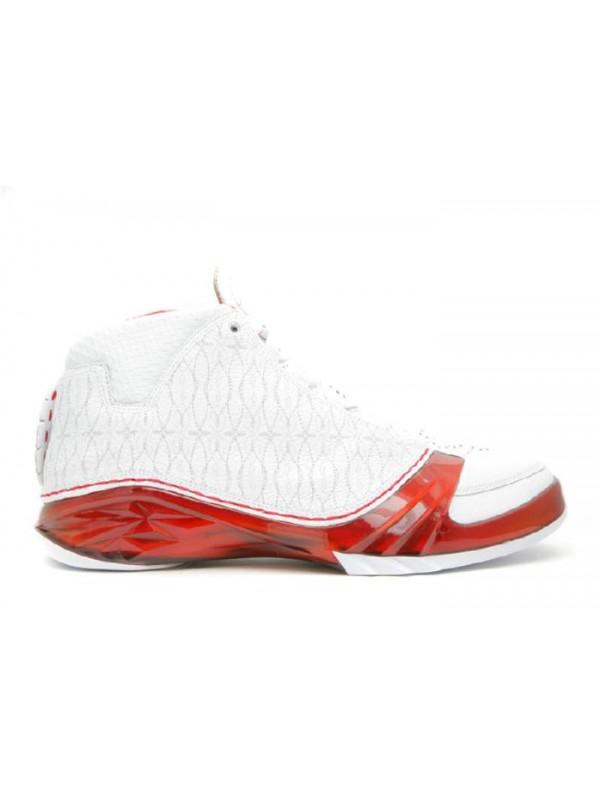 Cheap Air Jordan Shoes 23 White Varsity Red Metallic Silver
