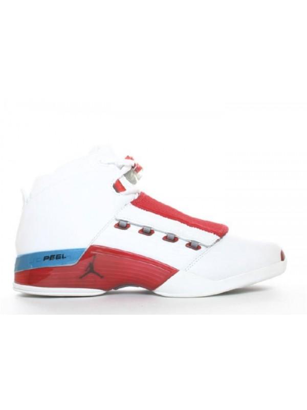 Cheap Air Jordan Shoes 17 White Varsity Red Charcoal