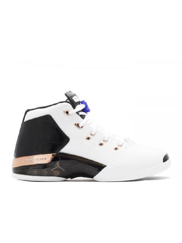 Cheap Air Jordan Shoes 17+ Retro Copper White Metallic Coin Black Sport Blue