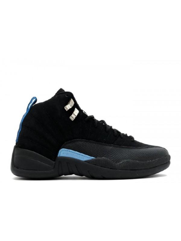 Cheap Air Jordan Shoes 12 Retro Nubuck Black White University Blue