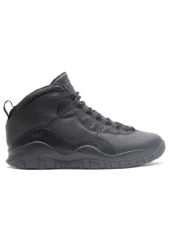 """Cheap Air Jordan Shoes 10 Retro """"OVO"""" All Black"""