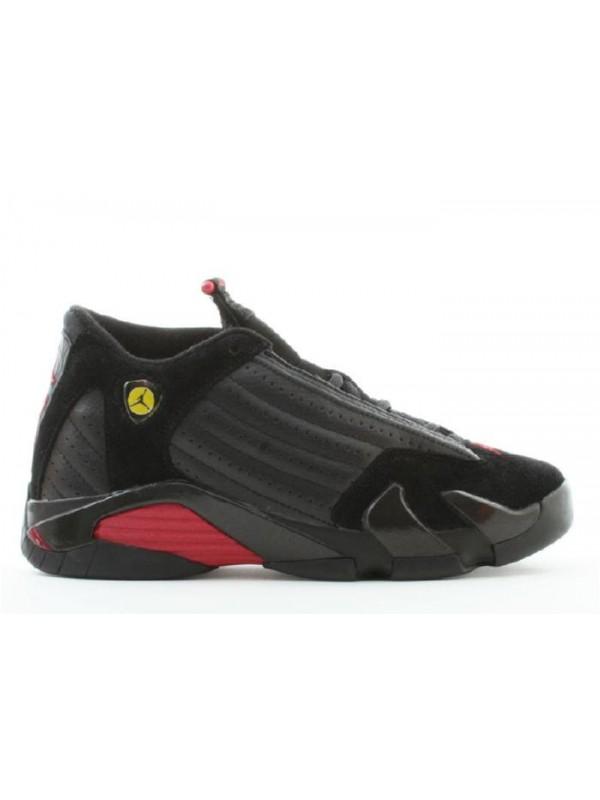 Cheap Air Jordan Shoes 14 Retro(GS) Black Varsity Red