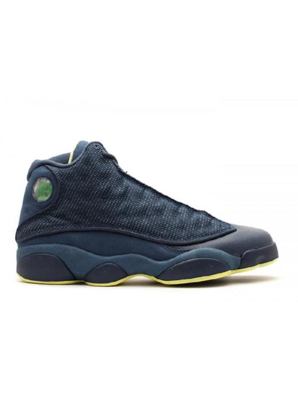 Cheap Air Jordan Shoes 13 Retro Squadron Blue Electric Yellow Black