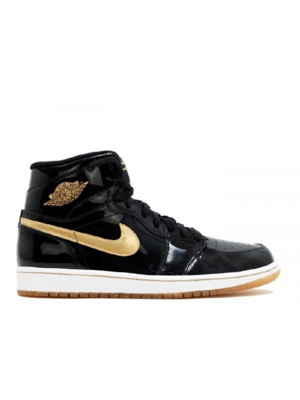 Cheap Air Jordan Shoes 1 Retro Black Metallic Gold (2013)