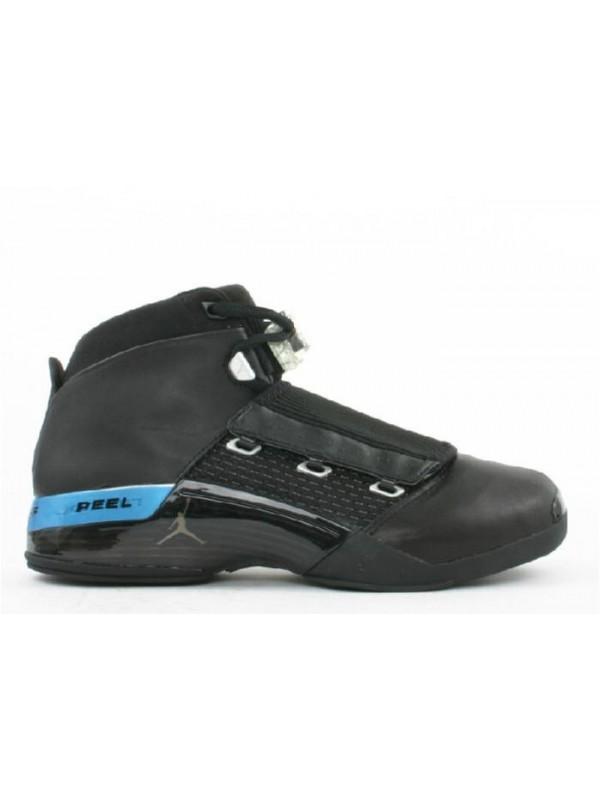Cheap Air Jordan Shoes 17 Black Metallic Silver