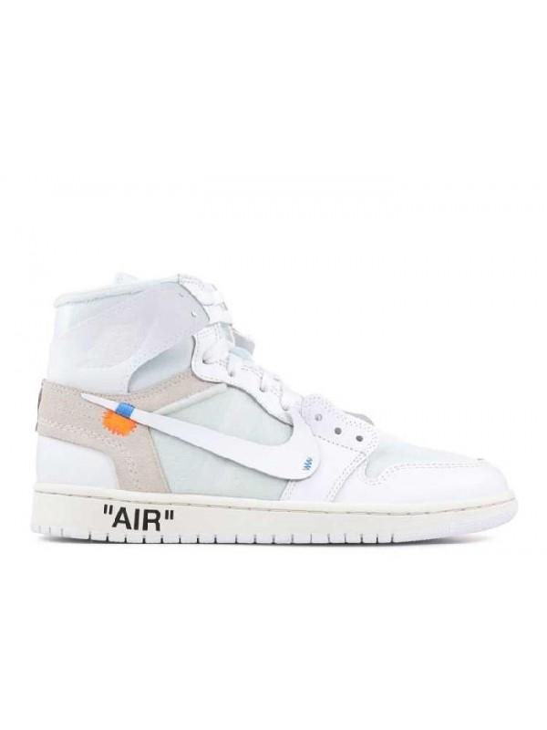 Cheap Air Jordan Shoes 1 X OFF WHITE NRG High White for Sale