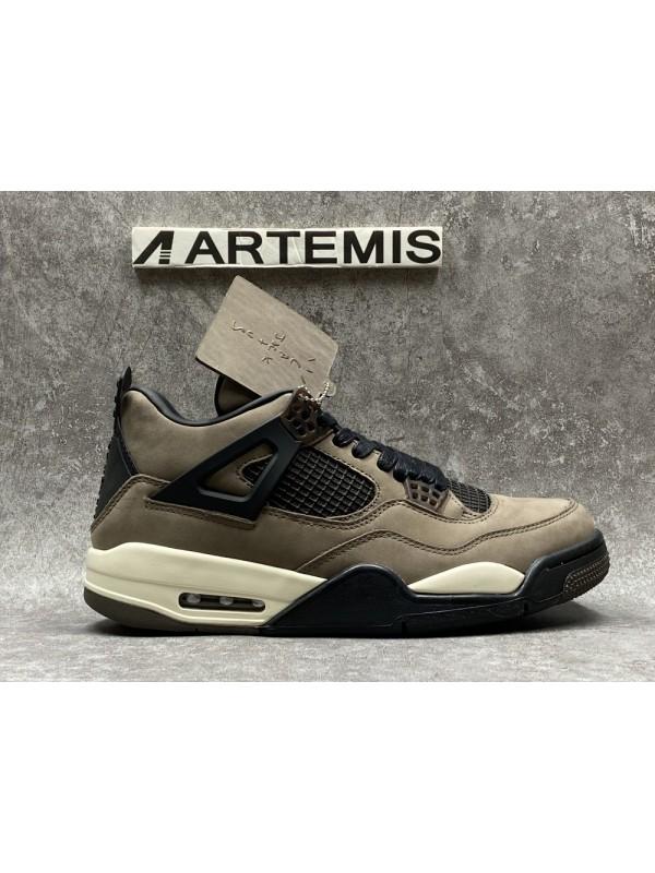 Cheap Air Jordan Shoes 4 Retro Travis Scott Olive