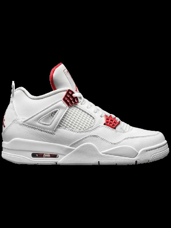 Cheap Air Jordan Shoes 4 Retro Metallic Red