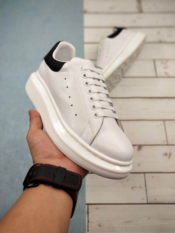 Cheap Alexander McQueen White and Black Oversized Sneakers